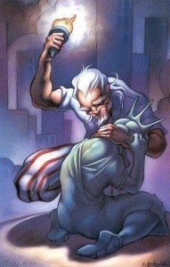 Uncle Sam Comforting